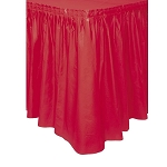 Plastic Table Skirt - Red