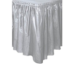 Plastic Table Skirt - Silver