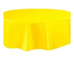 Round Heavy Duty Table Cover - Yellow