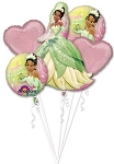 Princess Tiana Birthday Balloon Bouquet