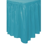 Plastic Table Skirt - Turquoise