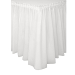 Plastic Table Skirt - White