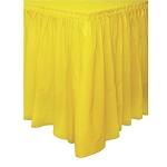 Plastic Table Skirt - Yellow