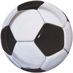 3D Soccer 9in Plates