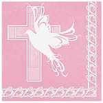 Dove Cross Pink Lunch Napkins