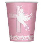 Dove Cross Pink 9oz Cups