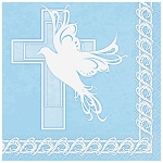 Dove Cross Blue Lunch Napkins
