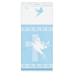Dove Cross Blue Table Cover