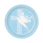 Dove Cross Blue 7in Plates