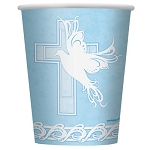 Dove Cross Blue 9oz Cups