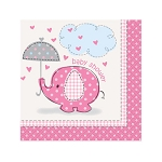 Pink Umbrellaphants Beverage Napkins