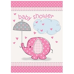 Pink Umbrellaphants Invitations