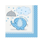Blue Umbrellaphants Beverage Napkins