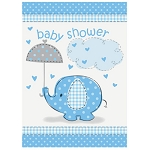 Blue Umbrellaphants Invitations