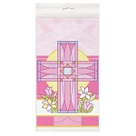 Sacred Cross Pink Table Cover