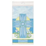 Sacred Cross Blue Table Cover