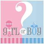 Gender Reveal Lunch Napkins