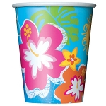 Hula Beach Party 9oz Cups