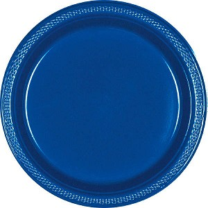 Bright Royal Blue 7in Plastic Plates