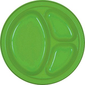 Kiwi 10.25in Divided Plastic Plates