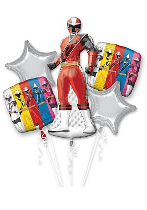 Power Rangers Ninja Steel Balloon Bouquet
