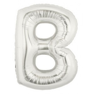 Air Filled 7 Inch Silver Letter B Balloons are great for all party occasions. Use as a Centerpiece