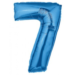 "40"" Megaloon Blue Number 7 Balloon"