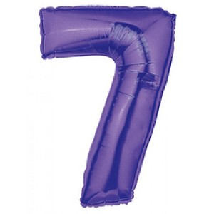 40 Inch Megaloon Purple  Number 7 Balloon