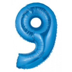 "40"" Megaloon Blue Number 9 Balloon"
