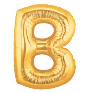 40 Inch Megaloon Gold Letter B Balloons