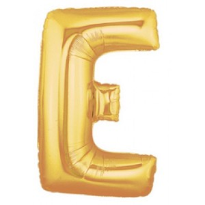 40 Inch Megaloon Gold Letter E Balloons