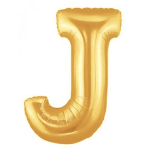 40 Inch Megaloon Gold Letter J Balloons