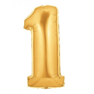"14""  Gold Number 1 Balloon"