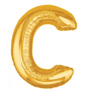 Air Filled 14 Inch Gold Letter C Balloons are great for all party occasions. Use as a Centerpiece