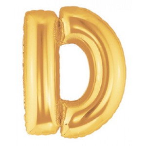 14 Inch Gold Letter D Balloons