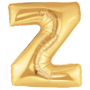 Air Filled 14 Inch Gold Letter Z  Balloons are great for all party occasions. Use as a Centerpiece