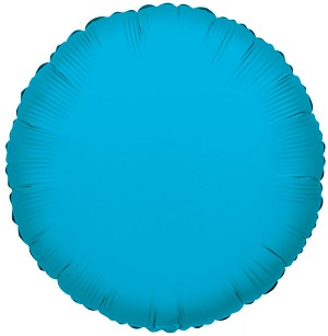 "18"" Solid Round Turquoise Blue"