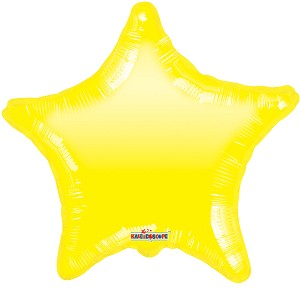 "18"" Yellow Star Gelli Bean"