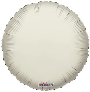 "18"" Solid Round Ivory"