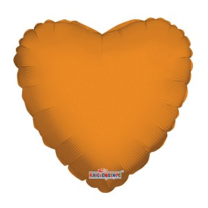 "18"" Solid Heart Orange"