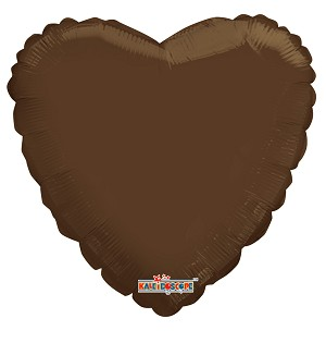 "18"" Solid Heart Brown"