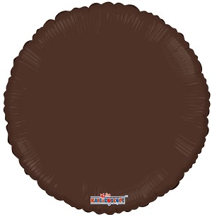 "18"" Solid Round Chocolate"