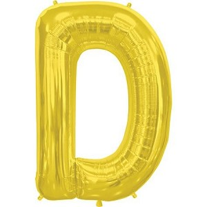 "34"" Gold Letter  D  Foil Balloon"