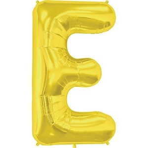 "34"" Gold Letter  E  Foil Balloon"