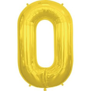 "34"" Gold Letter  O  Foil Balloon"
