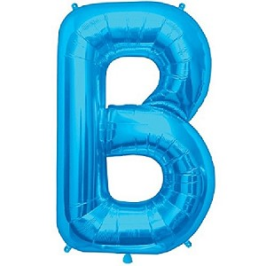 "34"" Blue Letter  B  Foil Balloon"