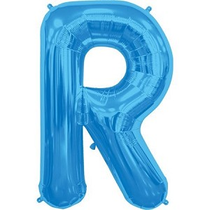 "34"" Blue Letter  R  Foil Balloon"