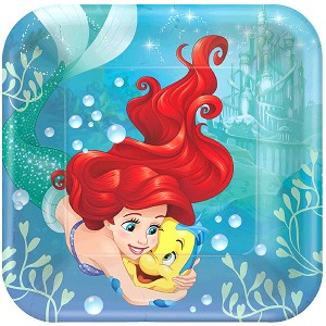 Disney Ariel Dream Big Magic 9in Dinner Plates