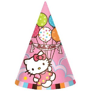 Hello Kitty Balloon Dreams Party Cone Hats