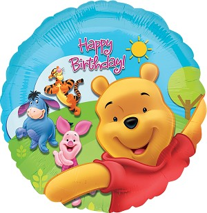 18in Pooh & Frnds Sunny Bday